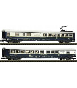 Set de dos coches salón, privado (Suiza) Ref: 816203. FLEISCHMANN. N