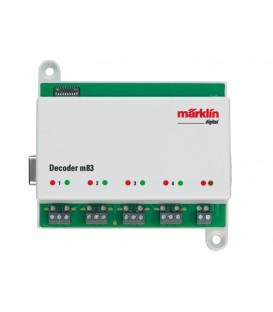 Decoder M83 para control de hasta 4 desvios MARKLIN Ref: 60831