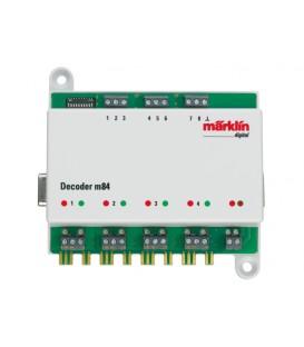 Decoder M84 para control de hasta 4 desvios o señales MARKLIN Ref: 60841