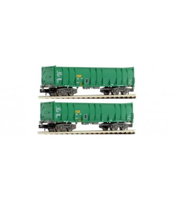 Pack de 2 vagónes Ealos en color Verde, épocha V, RENFE. Ref: HN6412. ARNOLD. N