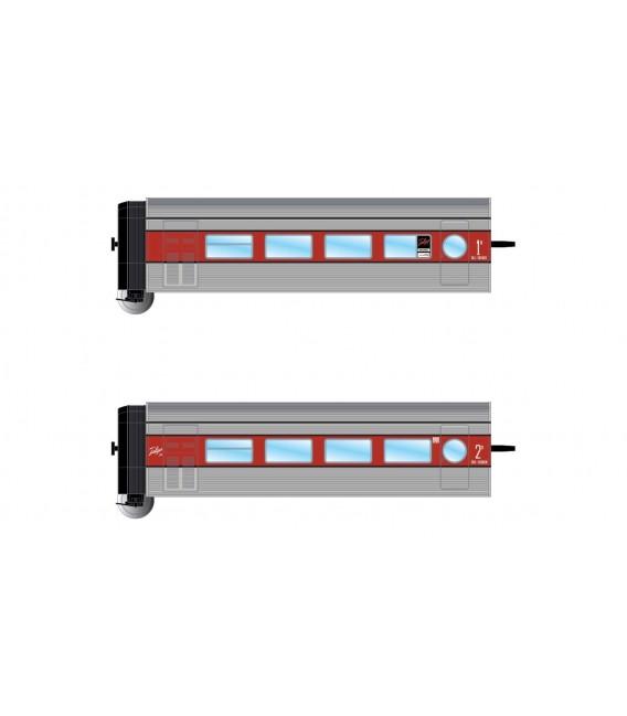 Tren Talgo III (Plata Rojo) Set adicional de 2 coches. Ref: HN4271. ARNOLD. N