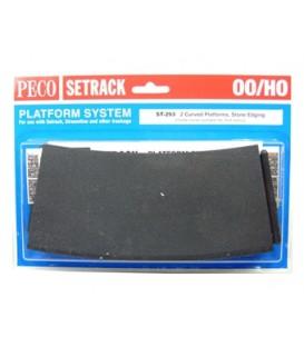 Plataforma curva  para andenes de Piedra H0 PECO ST-293