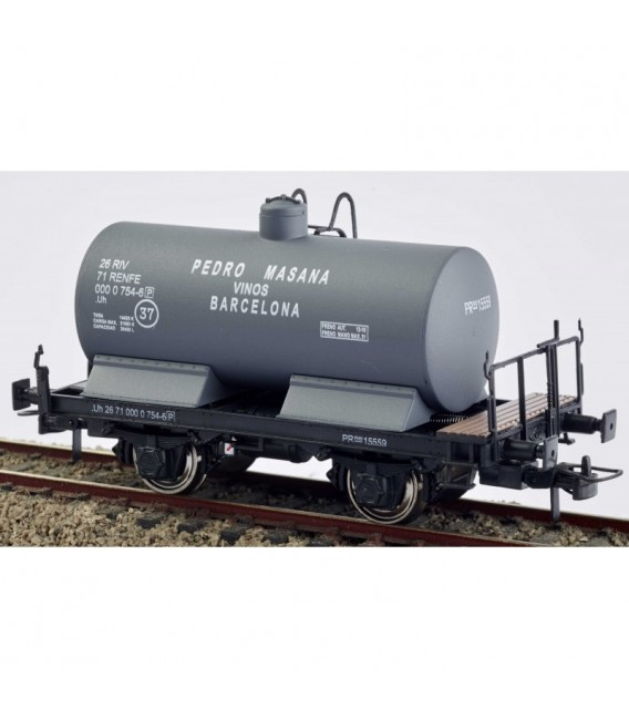 Vagón cisterna con balconcillo. Pedro Masana. Gris PR-15559 Ref: 0712-K. K*TRAIN. H0