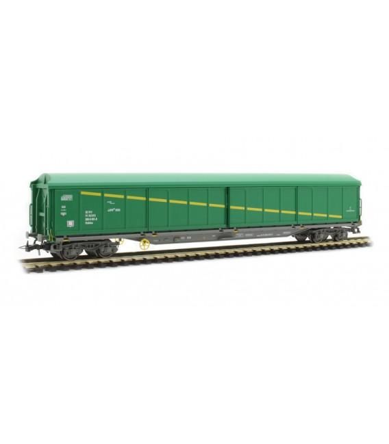 """Vagón puertas correderas """"JJPD"""" Verde . Ref: E6536. ELECTROTREN. H0"""