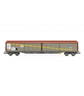 "Vagón puertas correderas ""JJPD"" Gris-Marron . Ref: E6537. ELECTROTREN. H0"