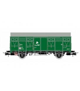 Vagón  Cerrado ORE 2 ejes Verde ADIF  Ref:E19043