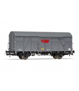 """Vagón  Cerrado ORE 2 ejes Paredes madera Gris """"CAF""""  Ref:E19045"""