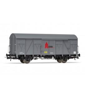 "Vagón  Cerrado ORE 2 ejes Paredes madera Gris ""MACOSA""  Ref:E19046"