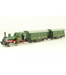 Tren completo (Locomotora + 2 coches) KATO Esc. N Ref: 10-500-1