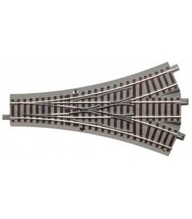 Desvio Triple Geoline 200mm. 22,5º Ref: 61160. ROCO H0