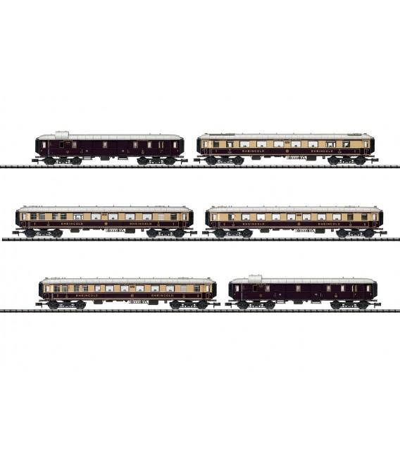 """Rheingold"" Express Train Passenger Car Set  Ref: 15539. MINITRIX. N"