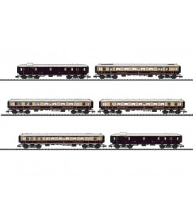 """Rheingold"" Express Train Passenger Car Set  Ref: 15539. MINITRIX. N"