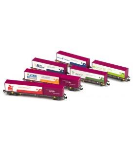 """Set de 6 Plataformas """"UN TREN DE VALORES"""" Renfe. Ref: N71004. MFTRAIN. N"""