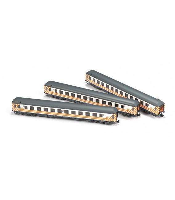 Set de 3 Coches 16200 Renfe Regionales Ref: N71005. MFTRAIN. N