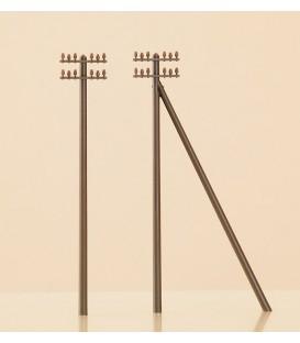 6 postes telegrafos. Ref: 41204. AUHAGEN. H0
