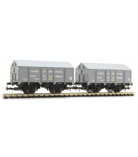 """Set de 2 vagones  cubiertos """"La Seda de Barcelona"""" Ref: E19033"""
