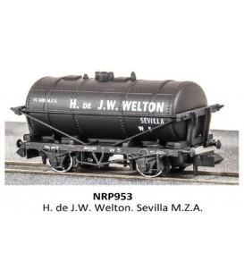"Vagón Cisterna ""J.W.WELTON"" PECO NR-P953 Escala N"