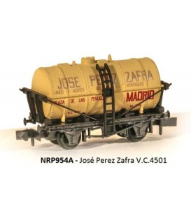 """Vagón Cisterna """"JOSE PEREZ ZAFRA"""" PECO NR-P954A Escala N"""