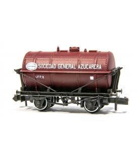 """Vagón Cisterna """"SOCIEDAD GENERAL AZUCARERA"""" PECO NR-P1004 Escala N"""