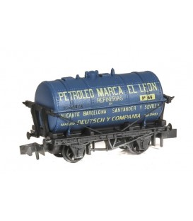 """Vagón Cisterna """"PETROLEO MARCA EL LEON"""" PECO NR-P956 Escala N"""