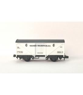 """Vagón Frigorifico """"Vagones Frigorificos, SA"""" PECO NR-P908 Escala N"""