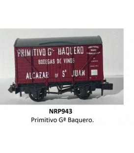 """Vagón Cuba """"PRIMITIVO Gª VAQUERO"""" PECO NR-P943 Escala N"""