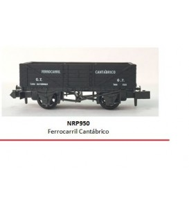 "Vagón bordes ""FERROCARRIL CANTABRICO"" PECO NR-P950 Escala N"