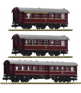 Set de tres vagones de conversión, DB. Ref: 881904. Fleischmann. N
