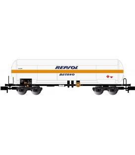 """Vagón cisterna 4 ejes para gas con parasol """"Repsol - Butano"""". Ref: HN6496. ARNOLD. N"""
