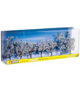 7 Árboles Invierno de gran calidad. (8 - 10cm). Ref: 25075. WOODLAND SCENICS. N/H0