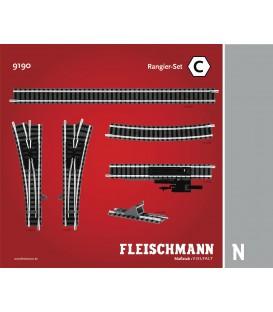Set de Ampliación de vías (C). Ref: 9190. FLEISCHMANN. N