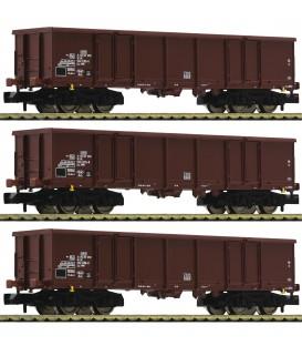 3-piece set goods wagons type Eas, DR Ref: 828247. FLEISCHMANN. N