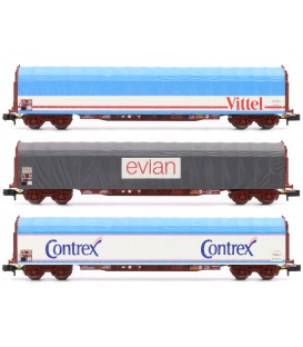 Set de 3 vagones transporte Agua SNCF Ref: 15375. MINITRIX. N