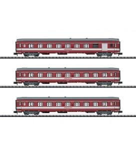 """Set de 3 coches de viajeros """"Le Capitole"""" SNCF  Ref: 15950. MINITRIX. N"""