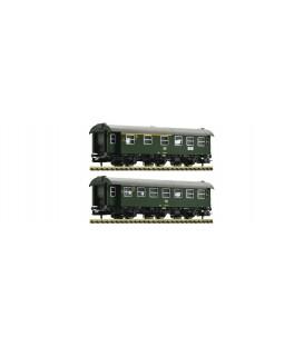 Set de 2 coches de 3ejes remodelados, DB DB. Ref: 809909. FLEISCHMANN. N