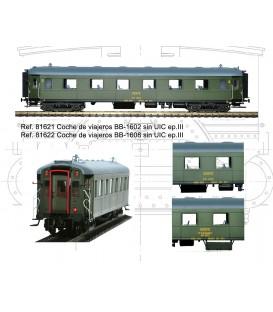 Coche de viajeros RENFE BB-1602. Ref: 81621. MABAR. H0