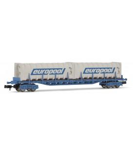 Vagón plataforma tipo SGS, EUROPOOL. Ref: HN6259. ARNOLD. N
