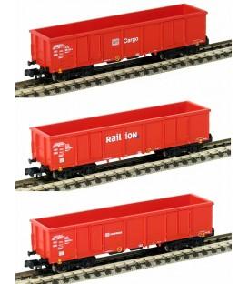 Set 3 vagones -Eaos Cargo/Railion/Schenker. Ref: HN6083. ARNOLD. N