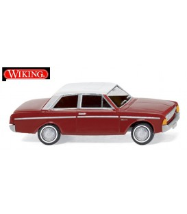 Ford Taunus 20M - brown red with white roof. Ref: 020401. WIKING. H0