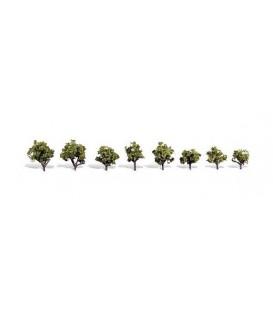 8 Árboles de gran calidad. (1.9-3.17cm). Ref: TR3545. WOODLAND SCENICS. N/H0