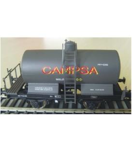 Cisterna unificada CAMPSA gris con balconcillo. Ref: 0712-C. K*TRAIN. H0