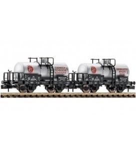 """Set de 2 unidades: Vagón cisterna de la """"Bolte & Co. KG"""", en servicio en la DB. Ref: 842607. FLEISCHMANN. N"""