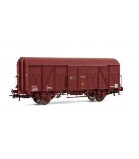 Vagón cerrado J-400.004, rojo óxido. Ref: E1826. ELECTROTREN. H0