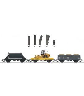 """Set de iniciación complementario """"tren de obras"""". Ref: 78082. MÄRKLIN. H0"""
