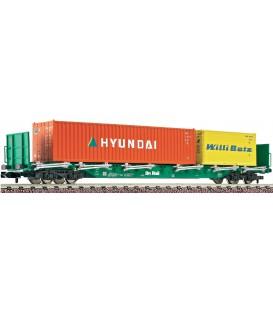 "Vagón de teleros de 4 ejes, tipo Rnos 4725 de ""On Rail GmbH"". Ref: 825405. FLEISCHMANN. N"