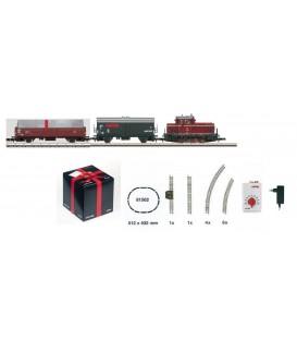 Set de inicio con locomotora Diesel y 2 vagones. CUBO REGALO. Ref: 81564 MARKLIN. Z