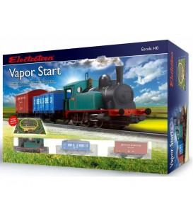 """Set de inicio con locomotora tipo """"030"""" y 2 vagones.""""Vapor Start"""". Ref: E10103. ELECTROTREN. H0"""